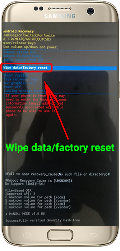 factory reset 2 recovery mode